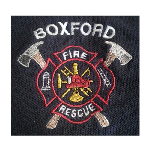 Boxford Fire Department, Boxford Fire Department logo, All Around Active, Give Back Program Clients