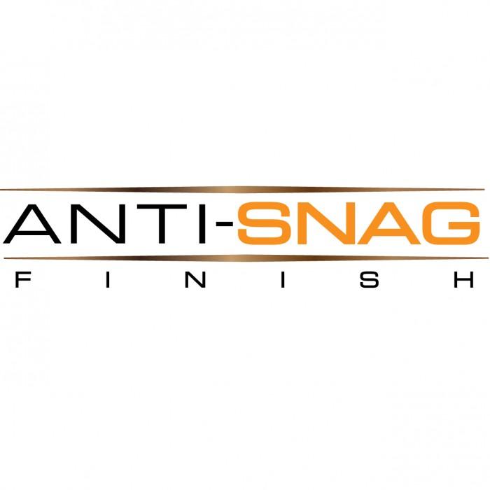 Anti-snag finish,