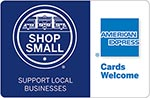 American Express, Shop Small, activewear, Support local businesses, All Around Active, customizable activewear